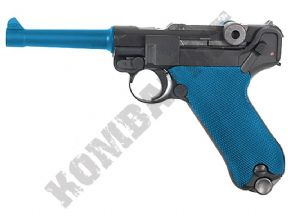 WE PO8 BB Gun 4 Inch | Luger Replica Airsoft Gas Blowback Pistol 2 Tone Colours | KOMBATKIT